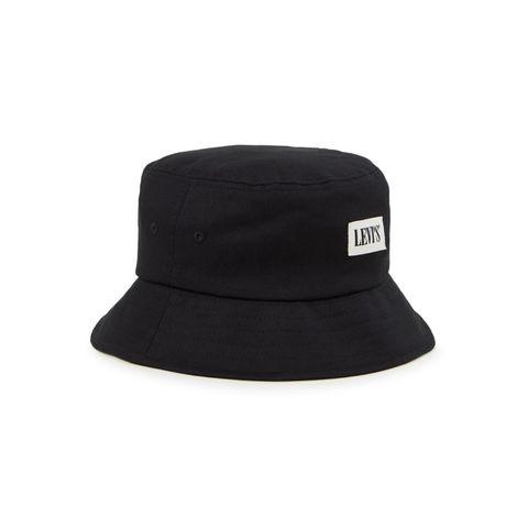 levi's serif bucket hoed met logopatch