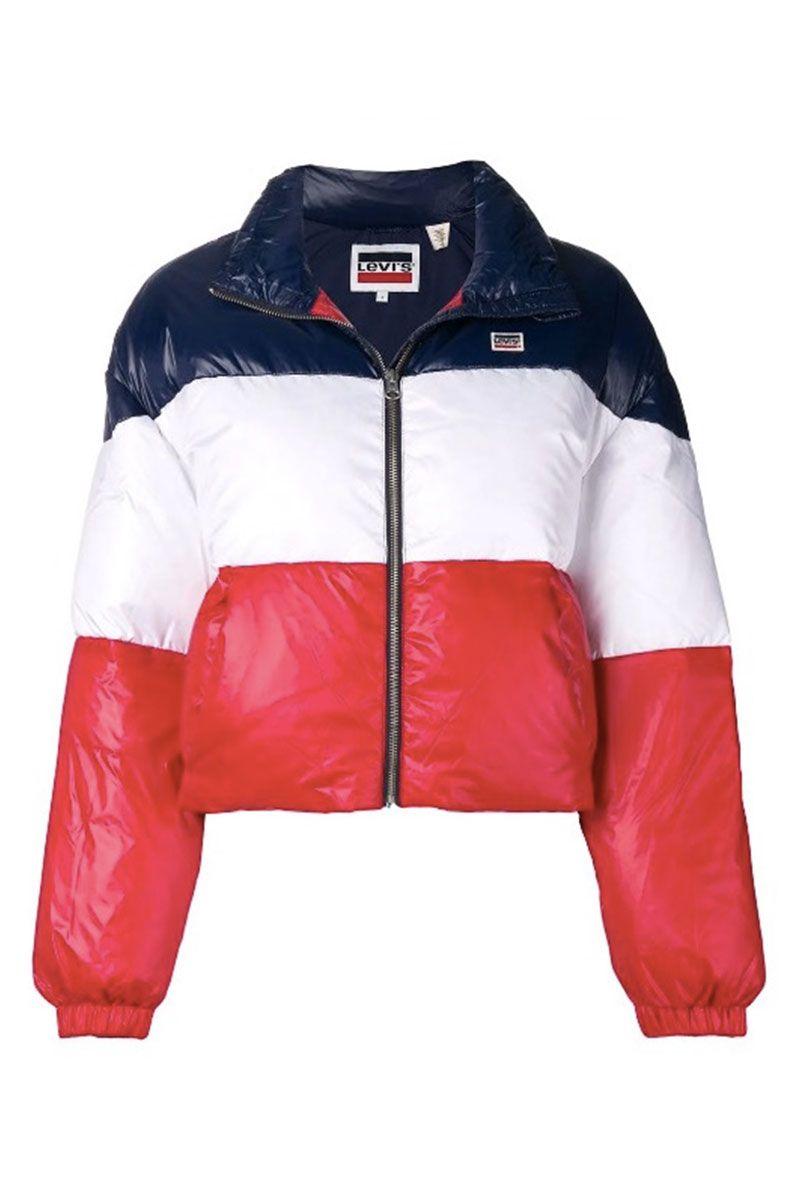 Striped puffer coat - best puffa jacket