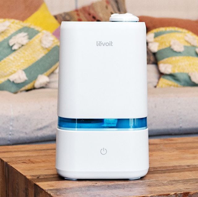 levoit humidifier on coffee table