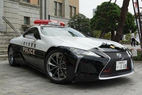 lexus lc 500 de la policía japonesa