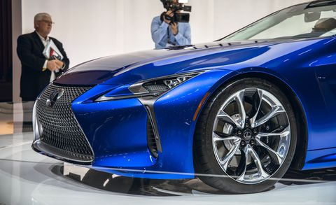 Land vehicle, Vehicle, Car, Auto show, Sports car, Automotive design, Motor vehicle, Supercar, Lexus, Rim,