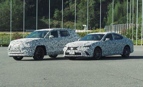 lexus electric suv and sedan prototypes
