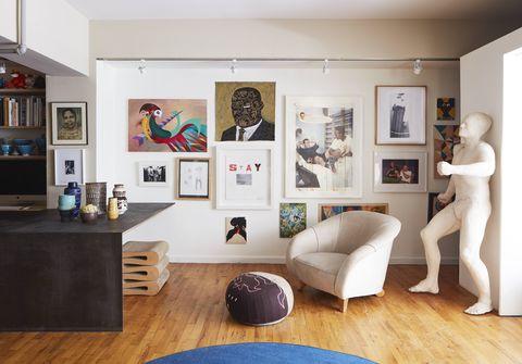 the art filled brooklyn apartment of designer leyden lewis
