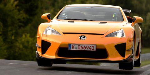 Lexus LFA Jumping