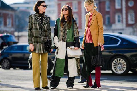 Street fashion, People, Fashion, Car, Vehicle, Eyewear, Footwear, Sunglasses, Outerwear, Pedestrian,