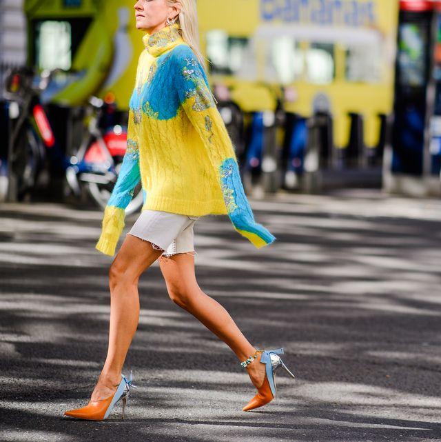 Street fashion, People, Photograph, Yellow, Fashion, Street, Pedestrian, Snapshot, Road, Urban area,