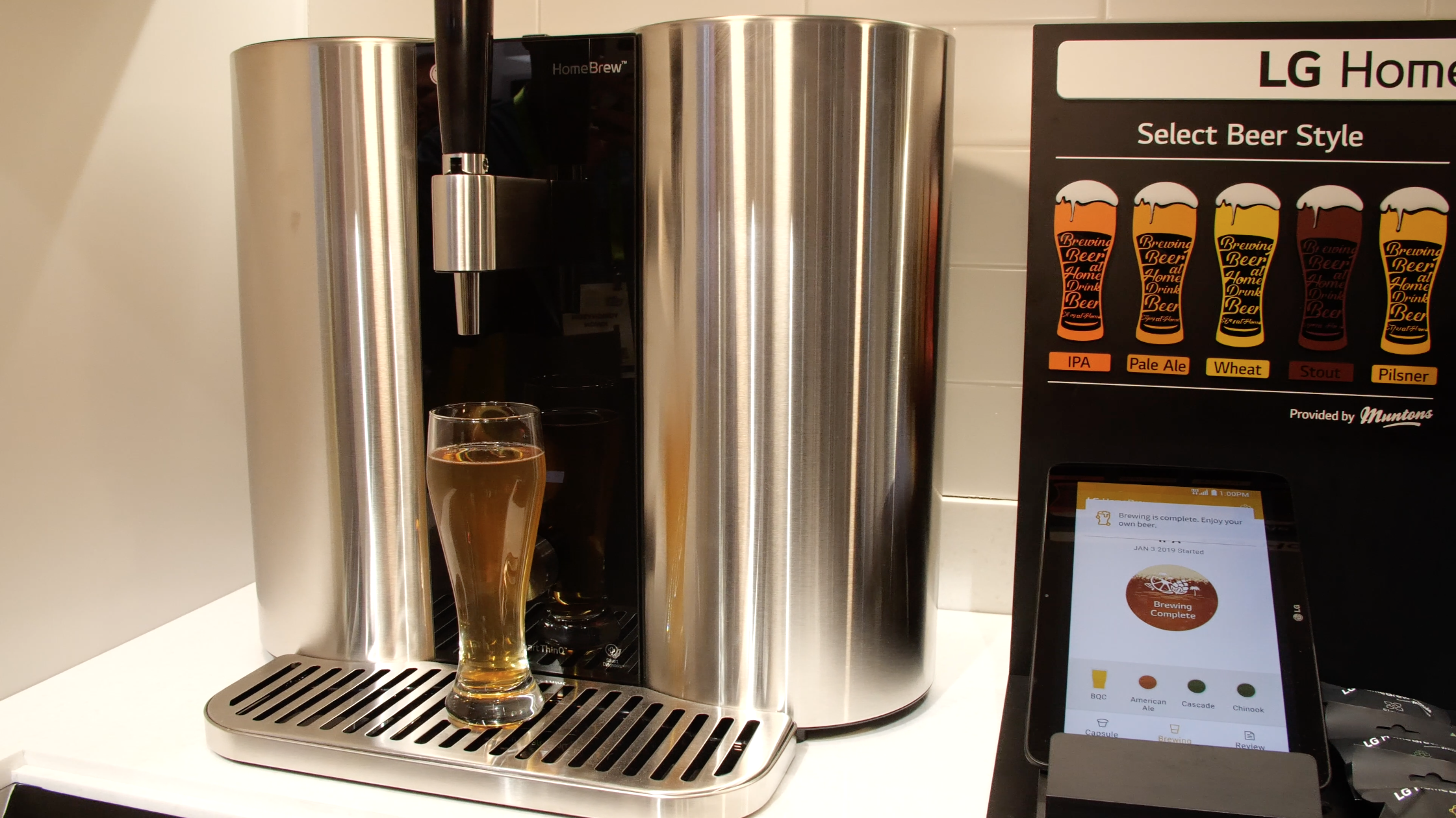 lg\u0027s new homebrew machine revolutionizes brewing beer at home