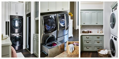 Major appliance, Laundry room, Washing machine, Room, Laundry, Home appliance, Cabinetry, Furniture, Clothes dryer, Cupboard,