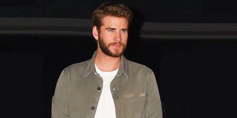 Liam Hemsworth fall denim