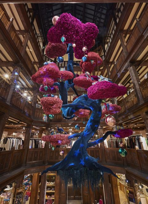 Liberty London Unveils Teal And Pink Bonsai Christmas Tree