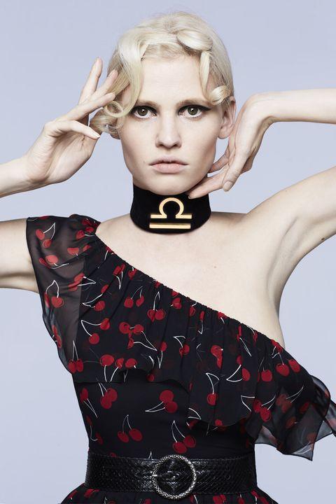 Blond, Fashion, Lip, Dress, Hand, Photography, Model, Neck, Photo shoot, Fashion accessory,