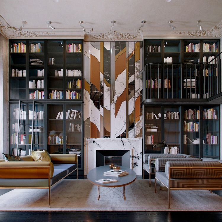 45 Home Library Design Ideas Best Designer Libraries To Try