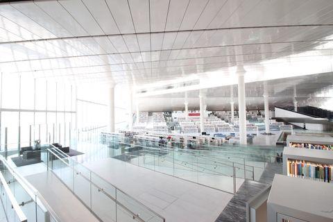 Qatar National Library di Rem Koolhaas (2018)
