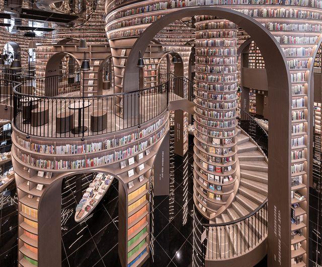 librería dujiangyan zhongshuge del estudio de arquitectura xliving
