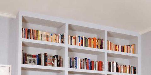 Shelving, Furniture, Shelf, Bookcase, Living room, Room, Interior design, Building, Cabinetry, Home,