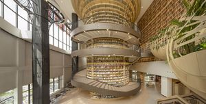 librería en China inspirada en las montañas Greater Khingan