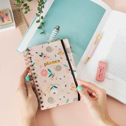 Libreta planificadora decorada con dibujos deerizos