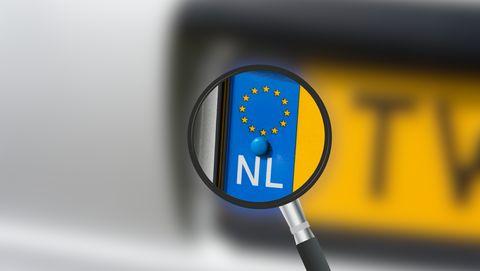 nederlands nummerplaat