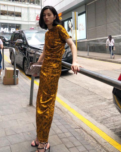 Clothing, Yellow, Street fashion, Fashion, Snapshot, Beauty, Dress, Photography, Leg, Photo shoot,