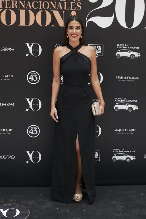 Clothing, Dress, Shoulder, Fashion model, Fashion, Little black dress, Carpet, Joint, Cocktail dress, Model,
