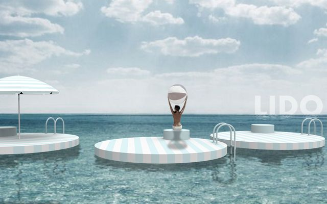 Water, Sky, Turquoise, Sea, Table, Leisure, Ocean, Furniture, Swimming pool, Vacation,