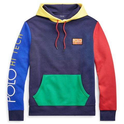 Clothing, Outerwear, Hood, Hoodie, Sleeve, Long-sleeved t-shirt, Sweatshirt, Polar fleece, Font, Electric blue,