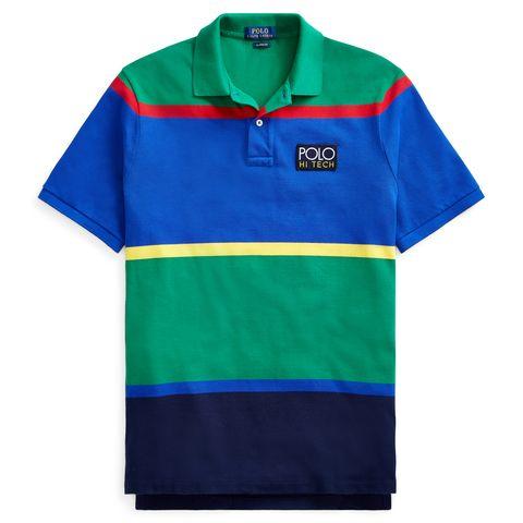 Clothing, T-shirt, Polo shirt, Cobalt blue, Sleeve, Blue, Collar, Electric blue, Sports uniform, Turquoise,