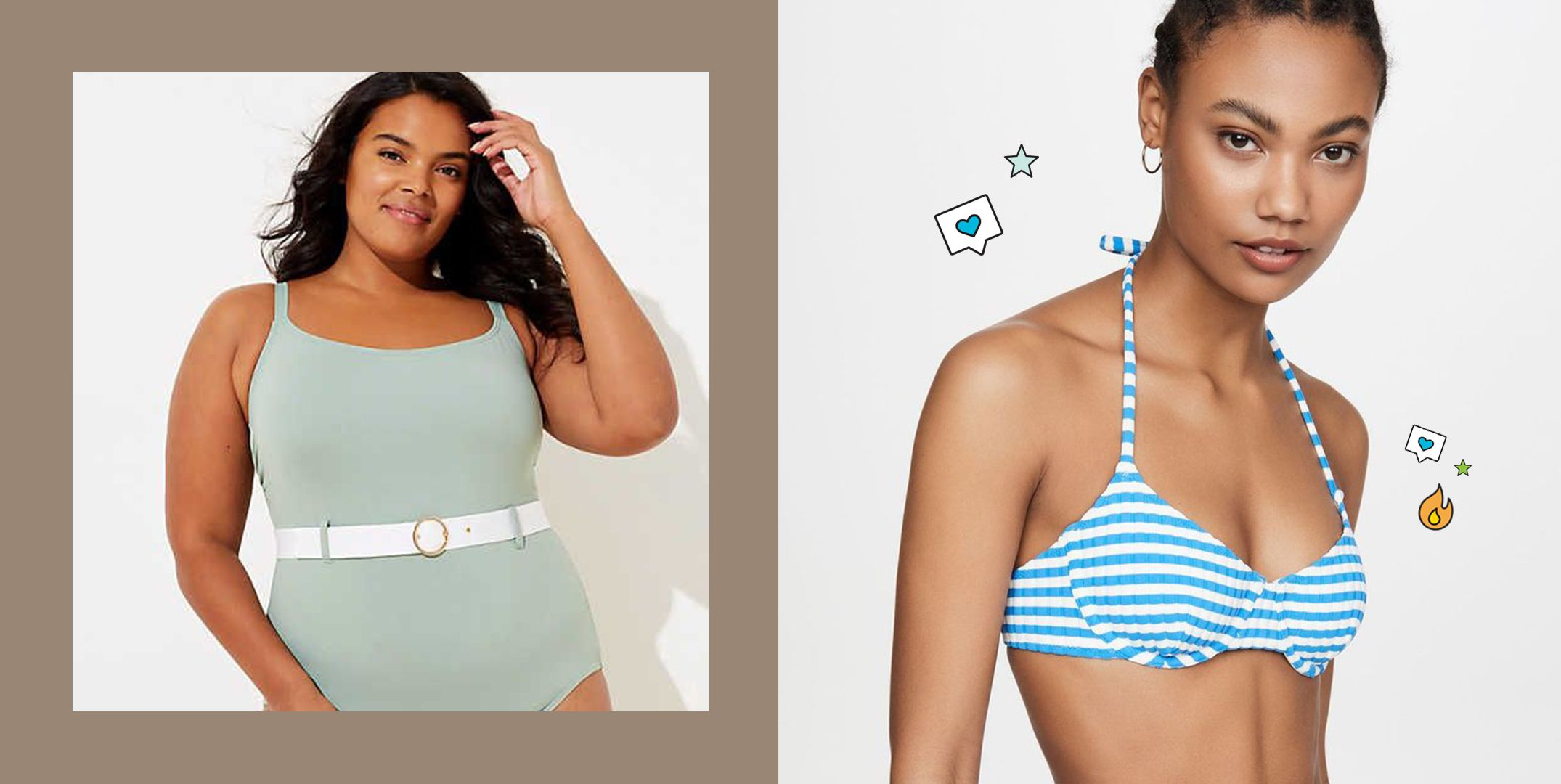 Denim /& Co Beach Double Ruffle Plus Size Swimdress Swimsuit