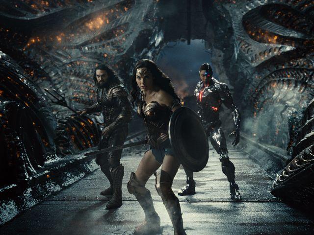 aquaman, wonder woman y cyborg en una escena inédita de la película liga de la justicia de zack snyder