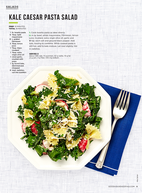 light and easy recipes kale caesar pasta salad