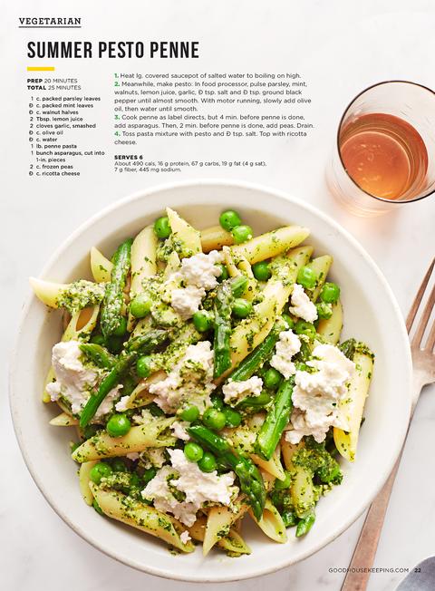light and easy recipes pesto penne pasta