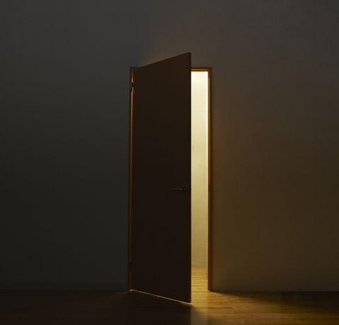 light through open door