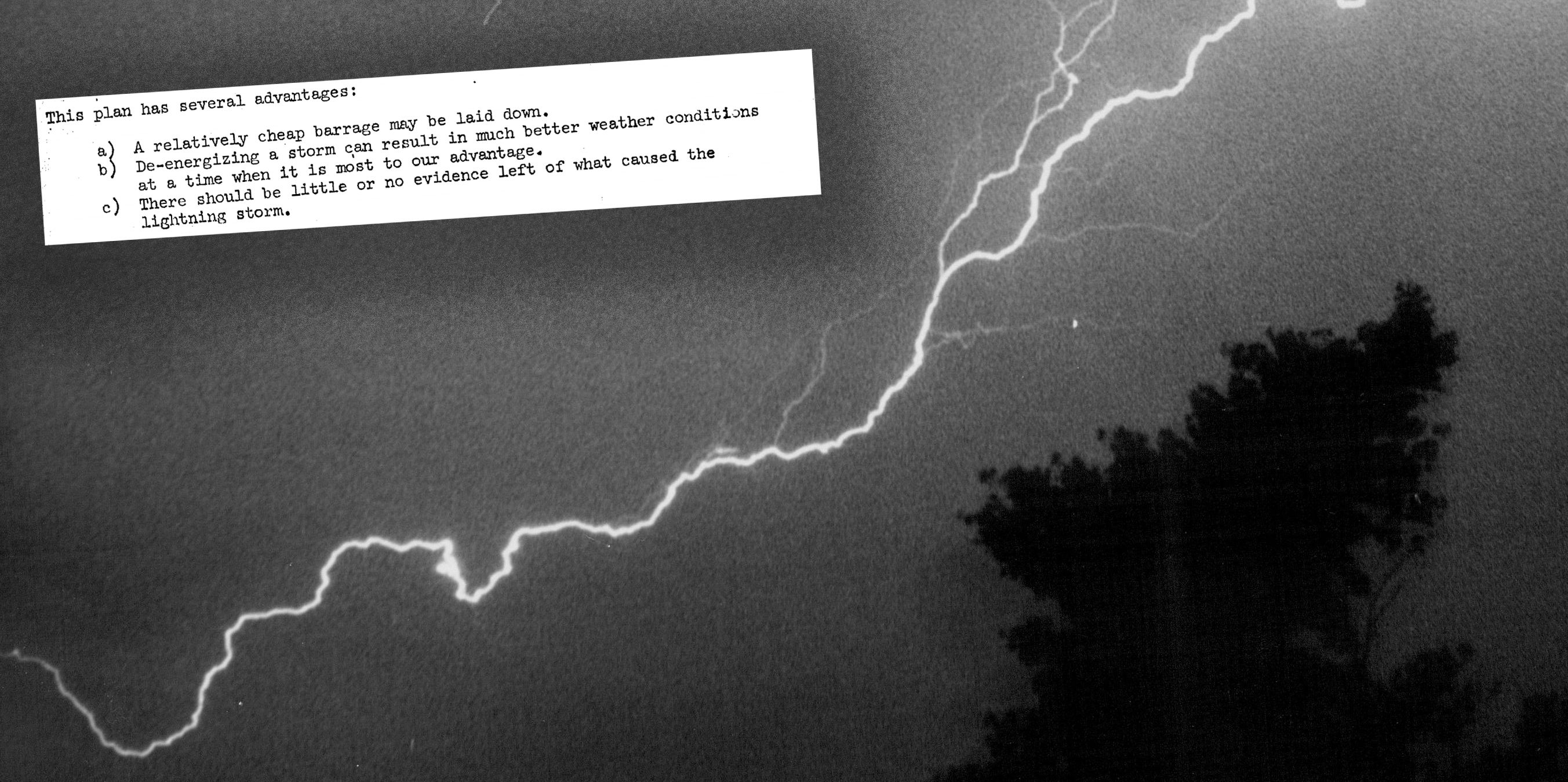 The CIA Once Considered Using Lightning to Assassinate People