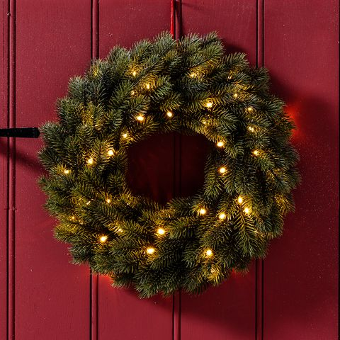 Pre Lit Outdoor Wreath Christmas
