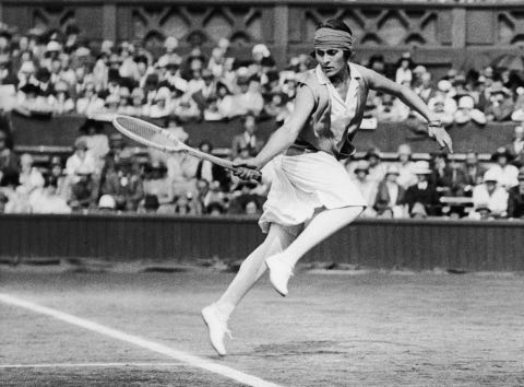spanish tennis player and journalist lili de alvarez 1905   1998 in play during the wimbledon championships, 1926 photo by central presshulton archivegetty images