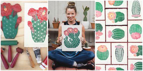 lili arnold floral block printing