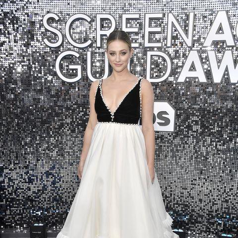 lili reinhart 2020 sag awards dress