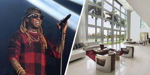 Lil Wayne Miami Shark Pool Mansion
