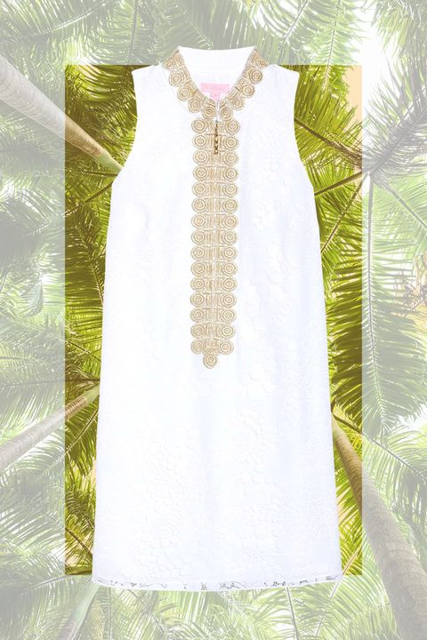 White, Clothing, Dress, Yellow, Day dress, Cocktail dress, Lace, Formal wear, Textile, Blouse,