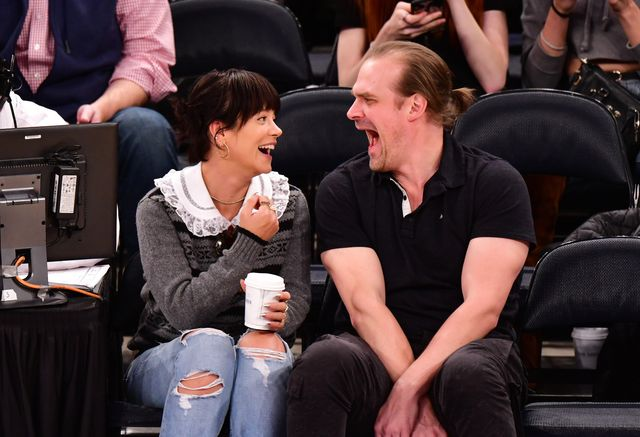 celebrities attend new york knicks v new orleans pelicans game