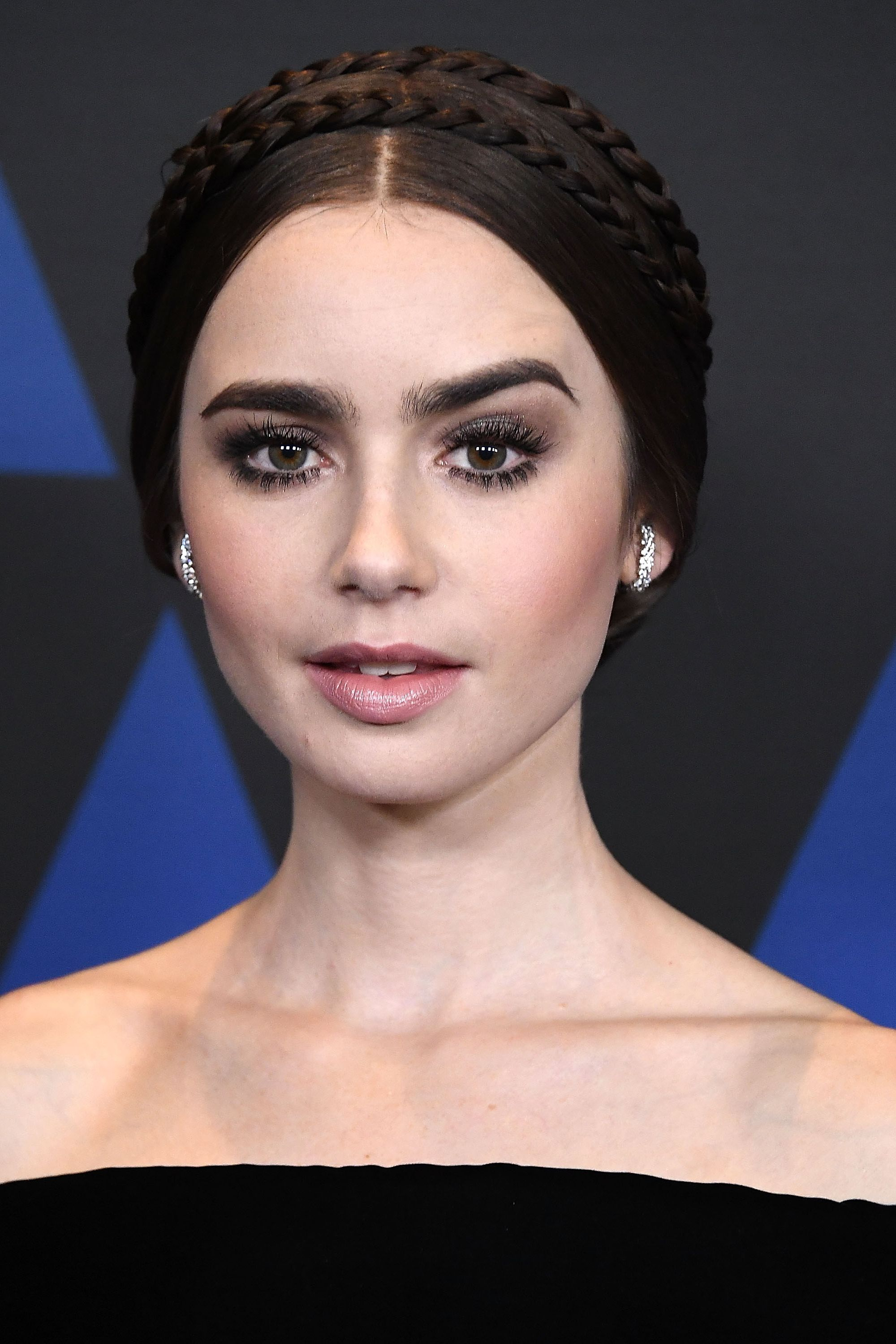 Lily Collins HairAcademy Of Motion Picture Arts And Sciences' 10th Annual Governors Awards - Arrivals