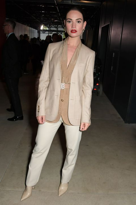 Lily JamesBurberry Spring Summer 2020 Show