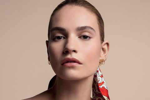 Lily James Burberry Foundation campaign