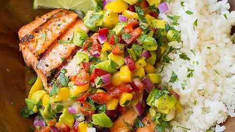 Dish, Food, Cuisine, Lime, Ingredient, Pico de gallo, Sweet corn, Meat, Chicken meat, Produce,