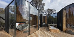 Cabañas o pabellones costeros ultramodernos en Australia, por Liminal Studio