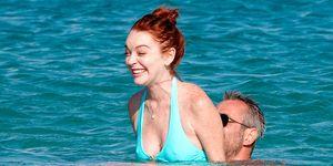 Lindsay Lohan se divierte en las playas de Mykonos