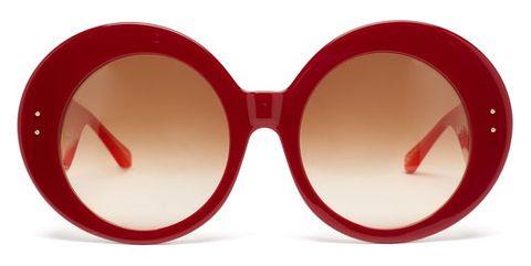 linda farrow x paco rabanne donyale oversized acetate sunglasses £405, women's sunglasses, bold sunglasses