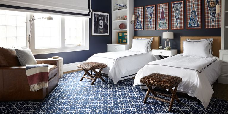 20 Navy Rugs That Celebrate Classic Design - Navy Area Rug