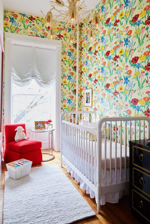 Vintage Wallpaper Inspired This Nursery Design by Lindsay MacRae