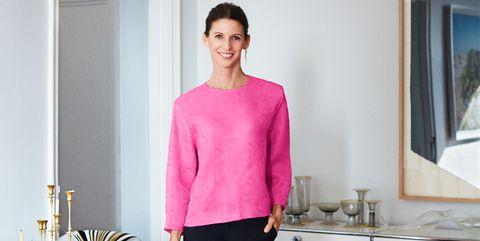 Product, Sleeve, Shoulder, Room, Joint, Pink, Magenta, Neck, Serveware, Kitchen,